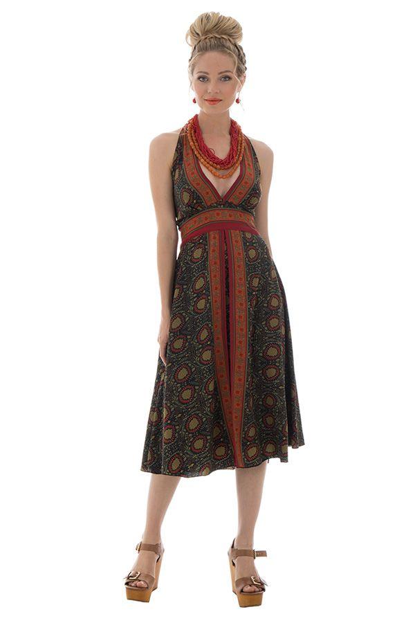 robe mi longue avec col pigeonnant et coupe droite adrian. Black Bedroom Furniture Sets. Home Design Ideas