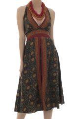robe mi-longue avec col pigeonnant et coupe droite Adrian 292152