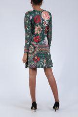 Robe mi-longue avec un imprimé de fleurs original Felia 304235