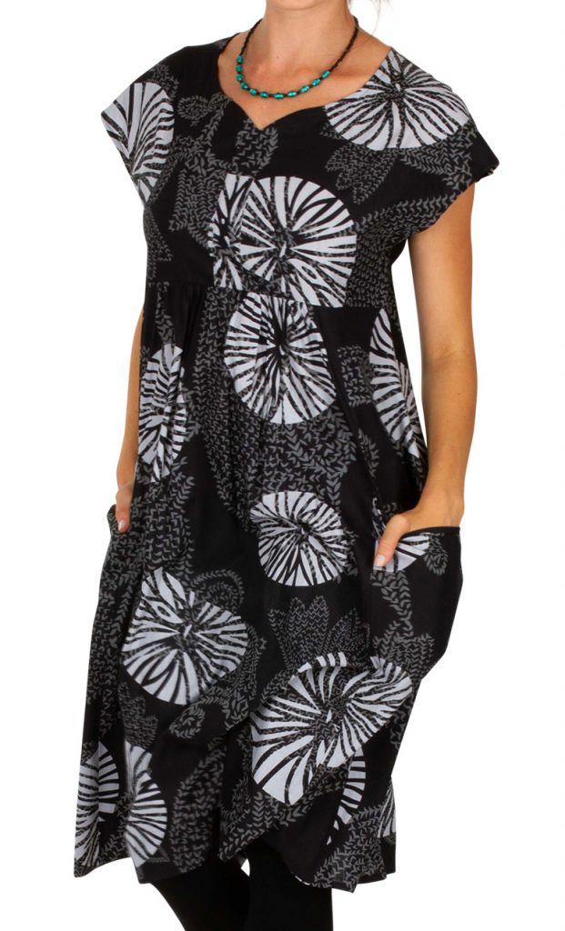 Robe mi-longue avec un imprimé original pour un look moderne Mia 306620
