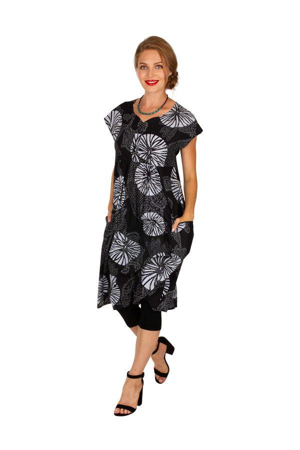 Robe mi-longue avec un imprimé original pour un look moderne Mia 306621