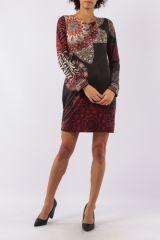 Robe mi-longue avec un imprimé original tendance Louisa 305427