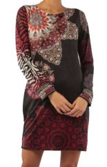 Robe mi-longue avec un imprimé original tendance Louisa 305428