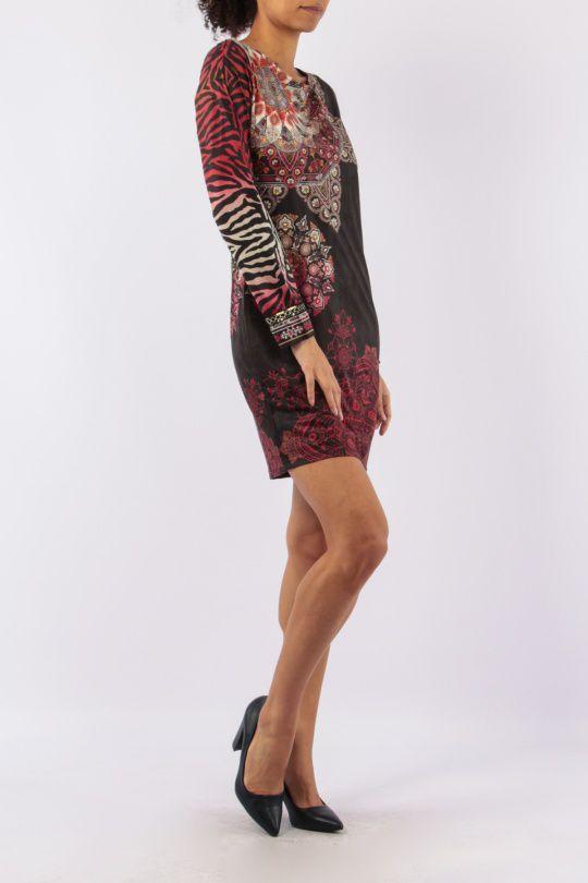 Robe mi-longue avec un imprimé original tendance Louisa 305429