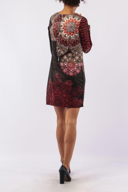 Robe mi-longue avec un imprimé original tendance Louisa 305431