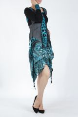 Robe mi-longue chic avec un imprimé original Balavy 304898