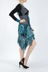 Robe mi-longue chic avec un imprimé original Balavy 304899