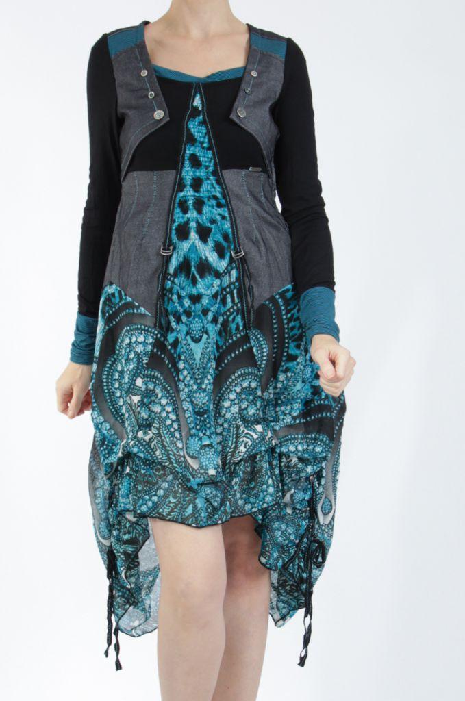 Robe mi-longue chic avec un imprimé original Balavy 304900
