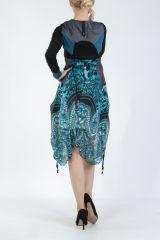 Robe mi-longue chic avec un imprimé original Balavy 304901