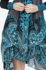 Robe mi-longue chic avec un imprimé original Balavy 304902