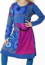 Robe mi-longue colorée à manches longues pour fille 287186