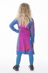 Robe mi-longue colorée à manches longues pour fille 287188