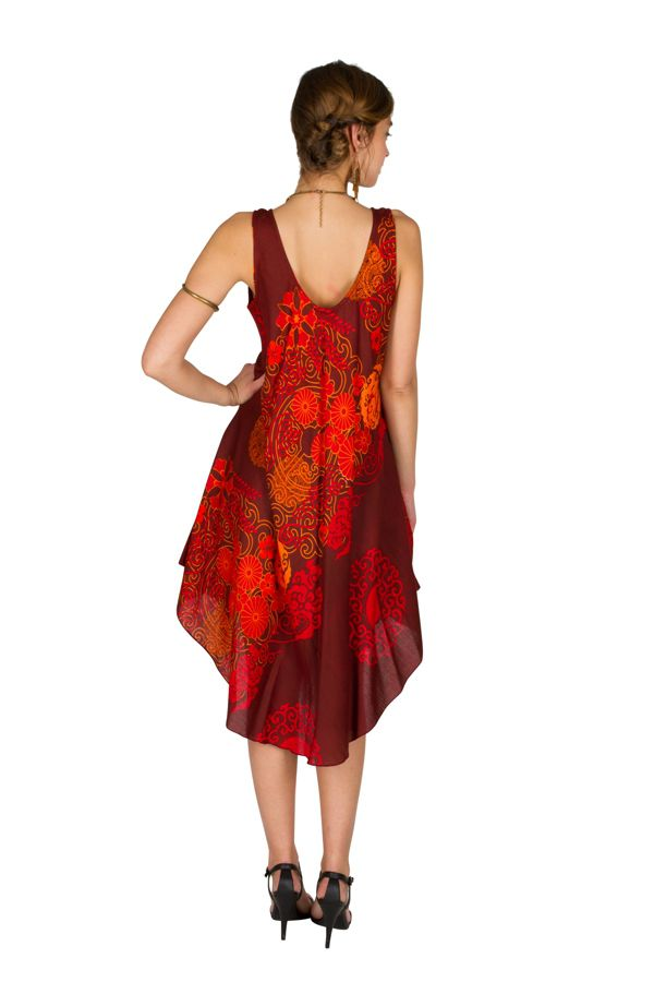Robe mi-longue colorée et asymétrique en rayonne Arianna 296355