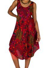 Robe mi-longue colorée et estivale avec col rond Radia 296110