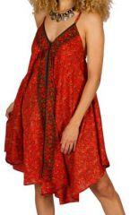 Robe Mi-Longue Colorée Ethnique Rouge Devilal 292122
