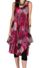 Robe mi-longue coupe ample et imprimé seventies Larsen 295871