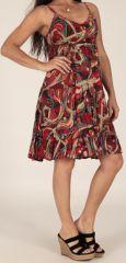 Robe mi-longue d'été à bretelles Originale et Imprimée Olga 279556