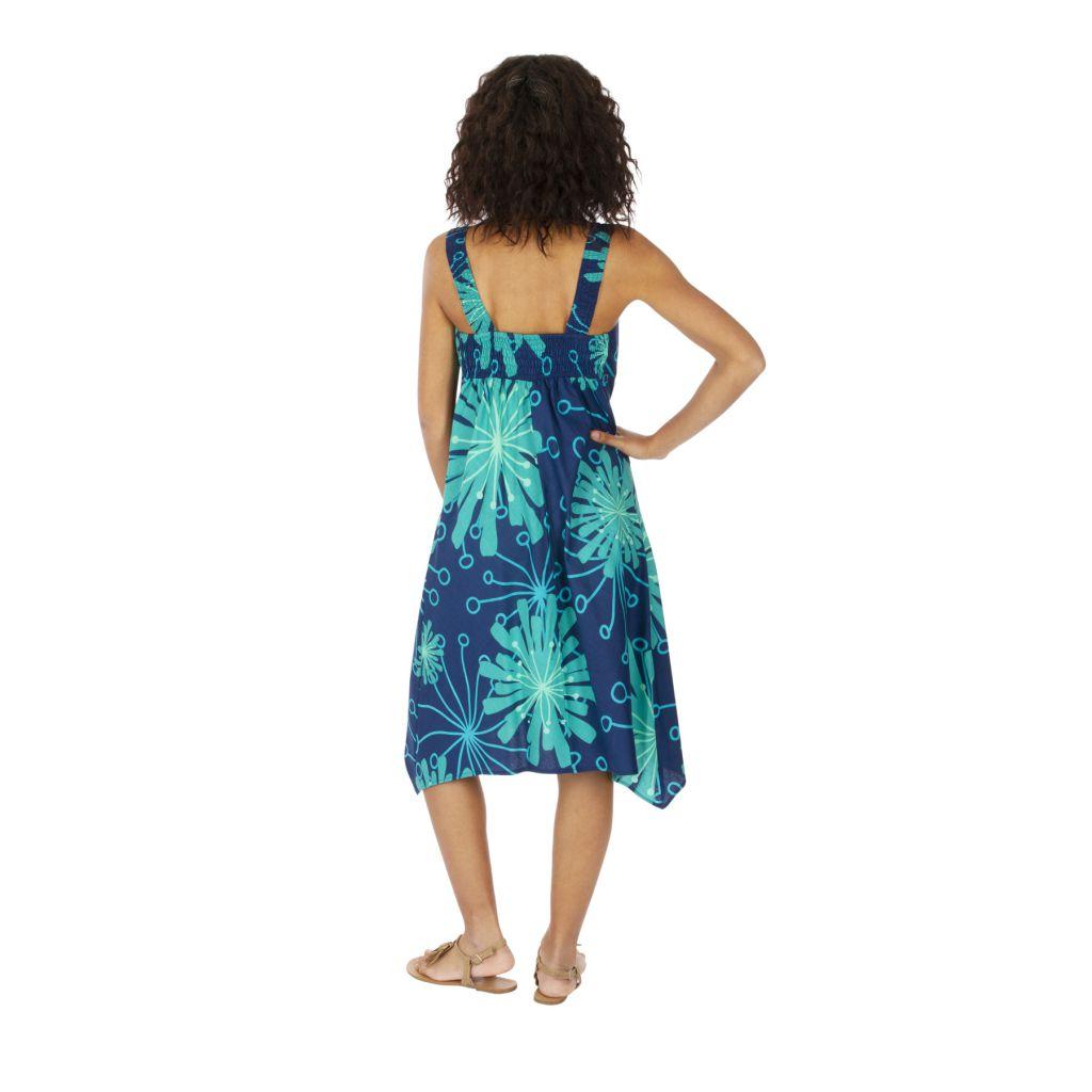 Robe mi-longue d'été en coton avec une coupe asymétrique Ninou 316921