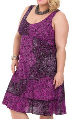 Robe mi-longue d'été Imprimée et Colorée Pepsy Rose 284415
