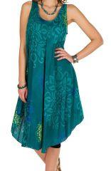 Robe mi-longue en rayonne avec imprimé original Elsa 295952