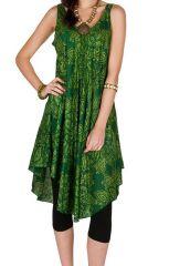 Robe mi-longue en rayonne et imprimés fantaisies Loreilei 295936