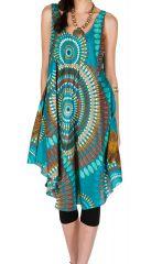 Robe mi-longue en rayonne inspiration seventies Olivette 295904