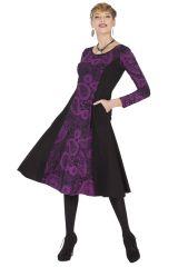 Robe mi-longue ethnique aux imprimés originaux Viola 285365