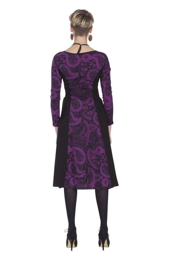 Robe mi-longue ethnique aux imprimés originaux Viola 285366