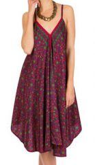 Robe Mi-Longue Ethnique et Colorée Rose Kaïma 292114