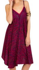 Robe Mi-Longue Ethnique et Originale Rose Indra 292121