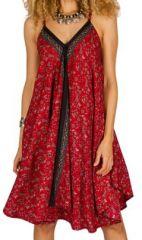 Robe Mi-Longue Ethnique et Originale Rouge Lalit 292116