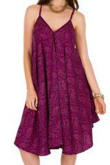 Robe Mi-longue Ethnique et Originale Violette Gualjo 292109
