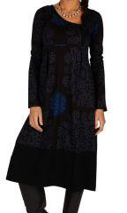 Robe mi-longue façon portefeuille et col asymétrique Beyla 313220