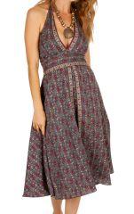 Robe mi-longue fleurie pour un look bohème et chic Mely 306514