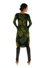 Robe mi-longue forme boule à poches et très colorée Kango 312720