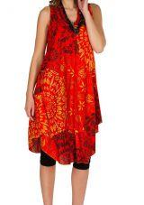 Robe mi-longue idéale été avec imprimés fantaisies colorés Jéléna 296288