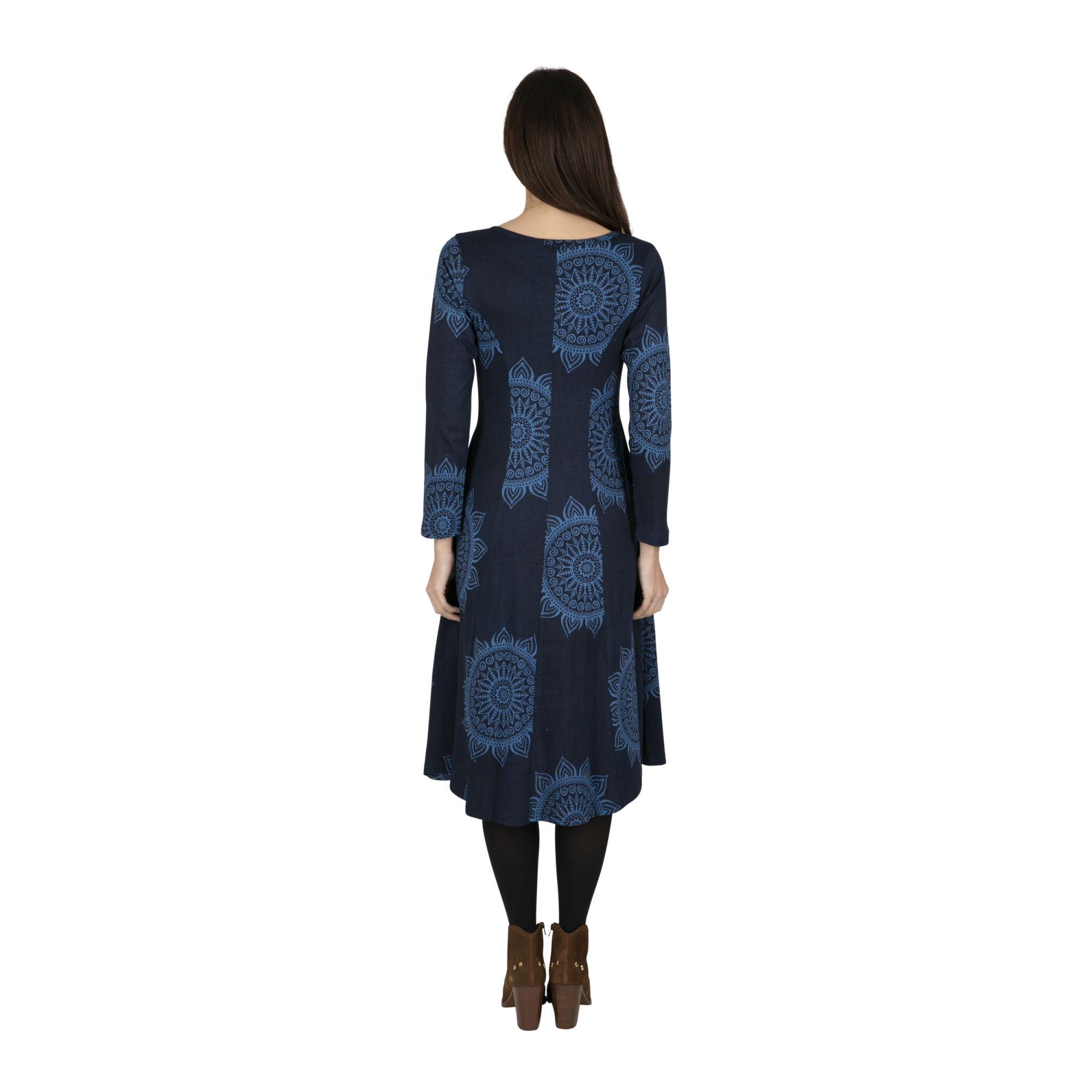 Robe mi-longue imprimée et originale pour femme Umutara