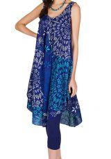 Robe mi-longue légère et fluide avec imprimés style indien Estella 296280