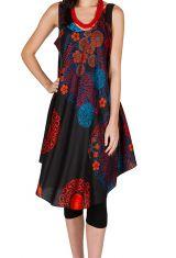 Robe mi-longue légère et fluide avec un imprimé floral Tara 296078