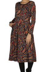 Robe mi-longue look bohème colorée femme Kampala