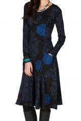 Robe mi-longue originale à manches longues et imprimés Nexa 301880