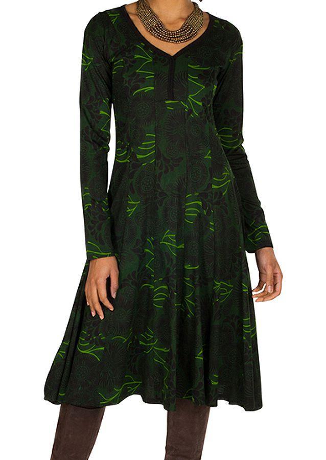 Robe mi-longue originale avec imprimés Portiana 302397