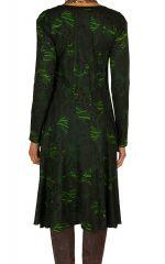 Robe mi-longue originale avec imprimés Portiana 302399