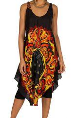 Robe mi-longue originale et colorée en 100% rayonne avec imprimé Audry 295976