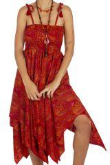 Robe mi-longue ou jupe longue ethnique d\'été pour femme Liva