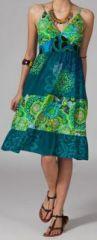 Robe mi-longue pas chère ethnic Carolyne 269812
