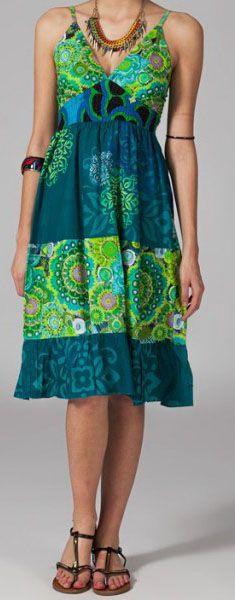 Robe mi-longue pas chère ethnic Carolyne 269813