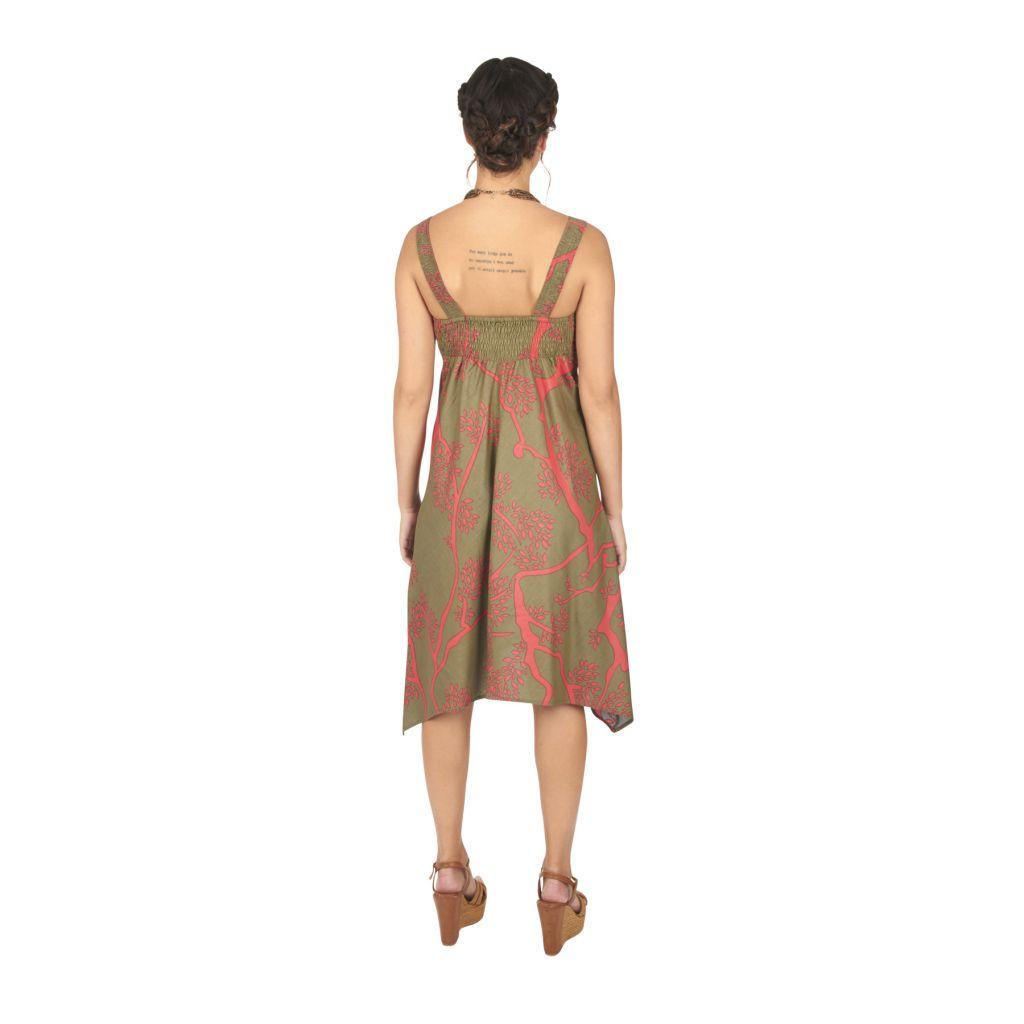 robe mi-longue femme pour l'été avec une coupe asymétrique Aliza