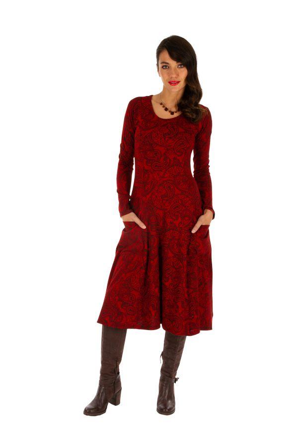 Robe mi-longue pour l'hiver colorée et ethnique Nakuru 312819