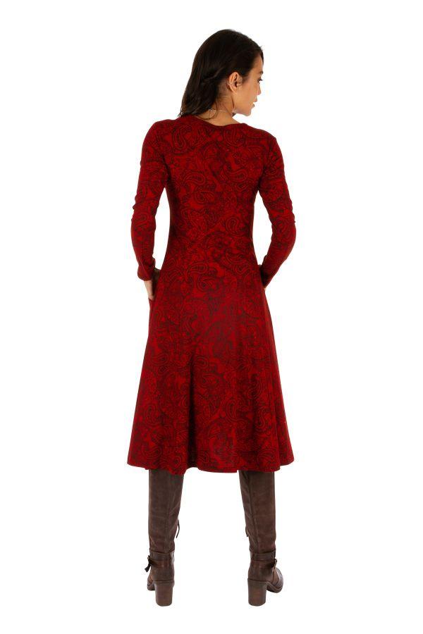 Robe mi-longue pour l'hiver colorée et ethnique Nakuru 312820